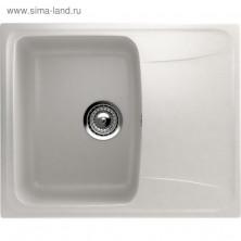 Мойка кухонная Ulgran U201-341, 580х470 мм, цвет молоко