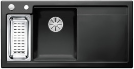 Мойка кухонная Blanco Axon II 6 S Ceramic PuraPlus 524150 Черный (левая)