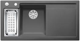 Мойка кухонная Blanco Axon II 6 S Ceramic PuraPlus 524148 Базальт (левая)
