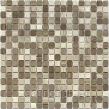 Мозаика каменная Bonaparte (Бонапарт) Kansas-15 POL Сетка 30,5x30,5 см. Чип 15х15х4 мм. Серый