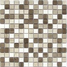 Мозаика каменная Бонапарт (Bonaparte) Alamosa-20 (POL) Полированная. Сетка 30,5x30,5см. Чип 20х20х7мм. Бежевый