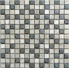 Мозаика каменная Бонапарт (Bonaparte) Milan-1 30,5x30,5. Серый