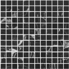 Мозаика из натурального камня Caramelle Nero marquina POL 23x23x7 (16), шт