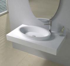 Раковина настенная со столешницей NS bath из искусственного камня, мат./глянец, NSS-90510