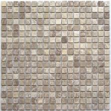 Мозаика каменная Bonaparte Бонапарт Madrid-15 Slim Matt Сетка 30,5x30,5 см. Чип 15х15х 4 мм. Бежевый