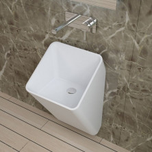 Раковина настенная NS bath из искусственного камня, мат./глянец, NSF-40400