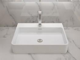 Раковина накладная NS bath из искусственного камня, мат./глянец, NST-80403
