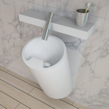 Раковина настенная NS bath из искусственного камня, мат./глянец, NSF-33000