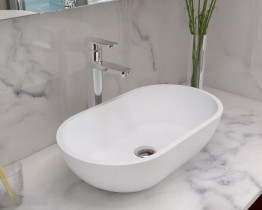 Раковина накладная NS bath из искусственного камня, мат./глянец, NST-56330
