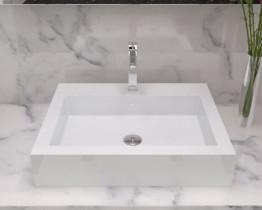 Раковина накладная NS bath из искусственного камня, мат./глянец, NST-48480