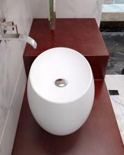 Раковина накладная NS bath из искусственного камня, мат./глянец, NST-46360
