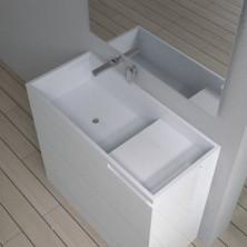 Раковина напольная с полотенцедерж. NS bath из искусственного камня, мат./глянец, NSF-10400