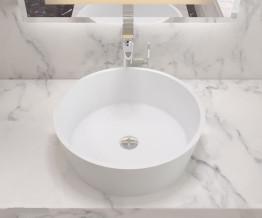 Раковина накладная NS bath из искусственного камня, мат./глянец, NST-50000