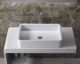 Раковина накладная NS bath из искусственного камня, мат./глянец, NST-60380