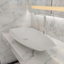 Раковина накладная NS bath из искусственного камня, глянцевая, NST-80401G