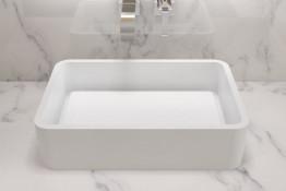 Раковина накладная NS bath из искусственного камня, мат./глянец, NST-60400