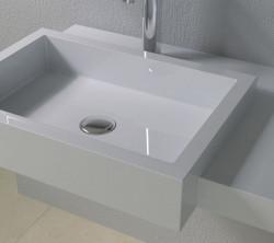 Раковина настенная со столешницей NS bath из искусственного камня, мат./глянец, NSS-90481