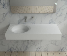 Раковина настенная NS bath из искусственного камня, мат./глянец, NSS-10430