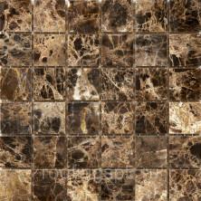 Мозаика каменная Бонапарт (Bonaparte) Granada-48 Сетка 305x305 мм. Чип 48х48х7 мм. Бежевый