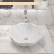 Раковина накладная NS bath из искусственного камня, матовая, NST-45000M