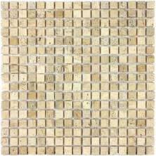 Мозаика из натурального камня Caramelle Travertino Etrusco MAT 15x15x7 (28)
