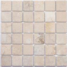 Мозаика из натурального камня Caramelle Cappuccino beige MAT 48x48x7 (8)