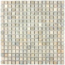 Мозаика из натурального камня Caramelle Cappuccino grigio MAT 15x15x7 (12)