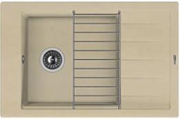 Мойка кухонная Florentina накладная, литой мрамор, ЛИПСИ-780P Бежевый