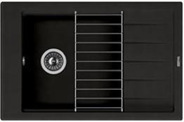 Мойка кухонная Florentina накладная, литой мрамор, ЛИПСИ-780P Черный