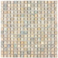 Мозаика из натурального камня Caramelle Mix classico 4 MAT (Beige, Grey) 15x15x7 (66)