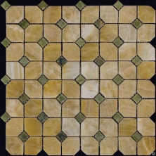 Мозаика из натурального камня Серия Octagon2 M073+M068-DP9