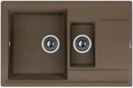 Мойка кухонная Florentina накладная, литой мрамор, Липси-780К Коричневый
