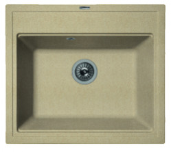 Мойка кухонная Florentina накладная, литой мрамор, ЛИПСИ-600 Бежевый