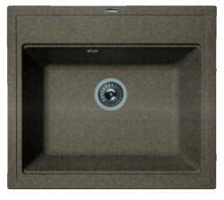 Мойка кухонная Florentina накладная, литой мрамор, ЛИПСИ-600 Коричневый