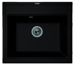 Мойка кухонная Florentina накладная, литой мрамор, ЛИПСИ-600 Антрацит