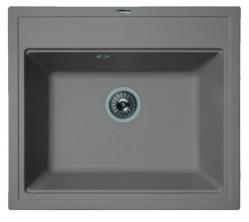 Мойка кухонная Florentina накладная, литой мрамор, ЛИПСИ-600 Грей