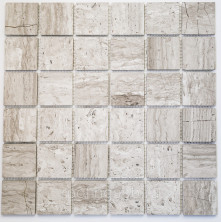 Мозаика каменная Бонапарт (Bonaparte) Ottawa POL 30,5x30,5 Серый