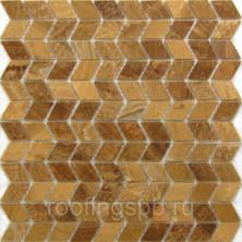 Мозаика каменная Бонапарт (Bonaparte) Ural 27,5x28,7 см 4 мм Жёлтый