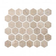 Мозаика из натурального камня Caramelle Cappuccino beige HEXAGONE POL 48x48x7