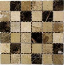 Мозаика Bonaparte из натурального камня Turin-48 30,5x30,5 Бежевый