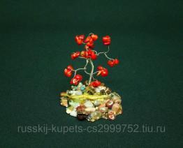 Дерево счастья с кораллом малое