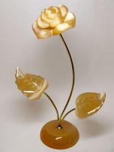 Цветы розы из селенита