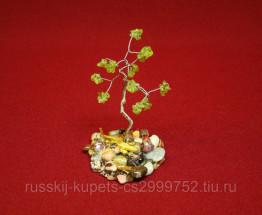 Дерево счастья с хризолитом малое