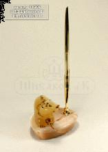Sv44-00152 Письменный набор с медведем из селенита 100*80*210 мм