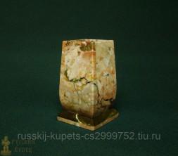Карандашница из лемезита точеная 11 см, 650 гр