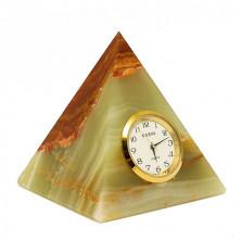 Пирамида - часы из оникса