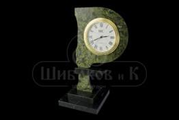 """Sv23-00083 Часы """"Рубль"""" настольные из змеевика 60*80*160мм"""