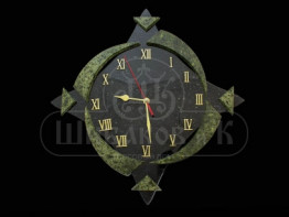 "Sv23-00089 Часы ""Лунный свет"" настенные из змеевика 275*275*50 мм"