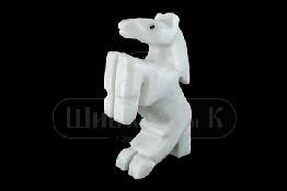 Sv36-00200 Конь белый мрамор 100 мм р.4