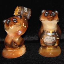 Фигурки из селенита медведи
